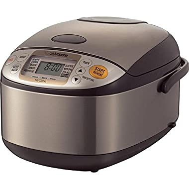 Zojirushi NS-TSC10 5-1/2-Cup (Uncooked) Micom Rice Cooker and Warmer, 1.0-Liter