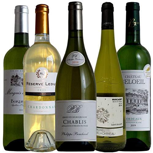 vinexio-ヴィネクシオ- フランス周遊 シャブリ入り 三大人気白ブドウ品種飲み比べ ソムリエ厳選ワインセット 白ワイン 750ml 5本