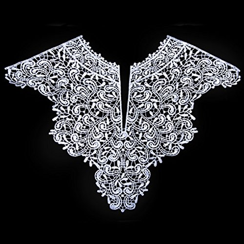 Chilie 1PC Embroidery Big Flowers Neckline Fabric DIY Collar Fabrics for Women Girls Sewing Supplies Crafts