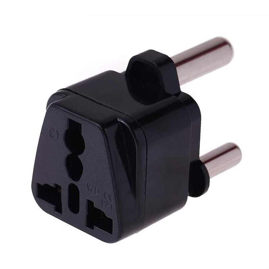 口実メロディアス嫌なHHM Portable Universal Socket to(Large)South Africa Plug Power Adapter Travel Charger(ブラック) (色 : Black)