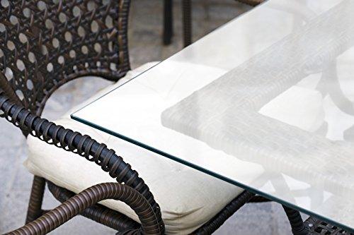 MySpiegel.de Glasplatte Tisch Glastisch Tischplatte Glas Zuschnitt 8mm 90x55 cm Glasplatte nach Maß Satiniert Milchglas Glasscheibe