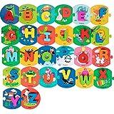Haowen ALFABETOS, Juguetes de Aprendizaje para niños pequeños, Tablero de Letras, Habilidades de Escritura, Entrenamiento, Juego Educativo Montessori a Juego