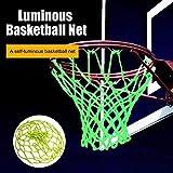 qwj Red de baloncesto fluorescente verde luminoso baloncesto red noche deportes por HuangMeihua