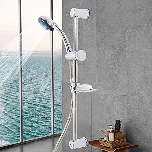 badewanne Shower Head Wall-Mounted Handheld Faucet Lift Rod Set Hose Lifter Portable Shower Head Decorated with Soap Box The Best Gift for The Bathroom