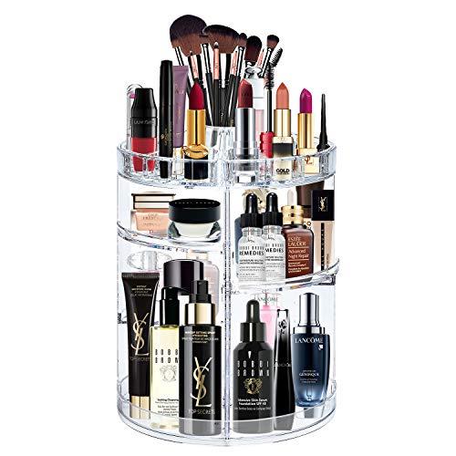 alvorog Make-up-Organizer Kosmetik-Aufbewahrungsbox, 360 Grad Drehbar Große Kapazität,...