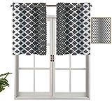 Cortina opaca para ventana, diseño geométrico, minimalista, moderno, diseño tríptico, de 91,4 x 45,7 cm, para interior, salón, comedor, dormitorio