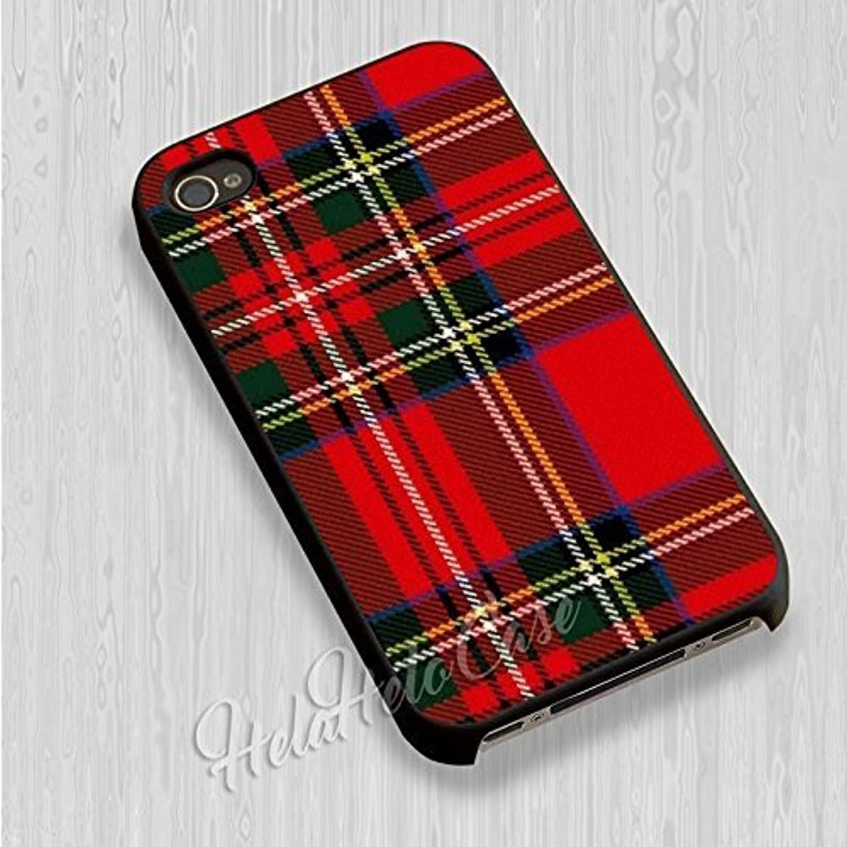 Deal Market LLC - Red Tartan Plaid-Hard Rubber Phone case for Apple iPhone 7- Custom Made and Shipped from USA