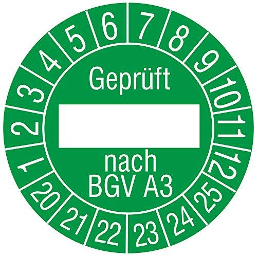 Labelident Mehrjahresprüfplakette Geprüft_ nach BGV A3