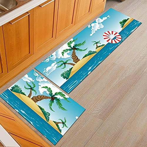 HLXX Alfombra Moderna Alfombra de Sala de Estar Alfombra de Cocina Antideslizante Alfombra de Dormitorio Alfombra de Noche Alfombra de baño A12 40x120cm