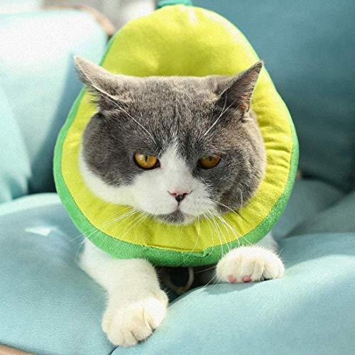 LAPONO Schutzkragen für Katze, Katzen Halskrause Verstellbar Weich Soft Anti Biss...