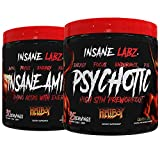 Insane Labz Hellboy Bundle, Psychotic Hellboy Pre Workout and Insane Amino BCAA, Increase Muscle Mass, Strength, Focus and Recovery Time, Lemonade