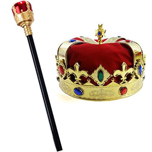 Kings's Crown and Sceptor for Freddie Mercury Costume