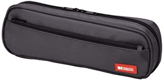 LIHIT LAB Pen Case, 9.4 x 1.8 x 3 inches, Black (A7552-24)