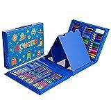W.KING 150pcs Herramienta lápices Skizzierstifte Set Conjunto de Dibujos Dibujo Profesional para el Dibujo y Dibujo para Artistas, Estudiante, Profesor o Principiantes,Azul