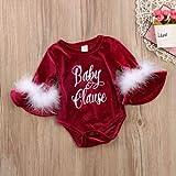 ジュルイライフ SXY赤ちゃんクリスマススタイルの手紙パターンロングトランペットスリーブジャンプスーツロンパース、キッドサイズ:70センチメートル