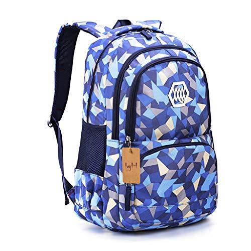 Schulrucksack Mädchen Teenager Schultaschen Jungen Ranzen Ergonomischem Kinder Rucksäcke Verweilen Druck Schulranzen für 8 10 15 Jahre School Bags for Boys Girls Schulranzen Groß für Schule