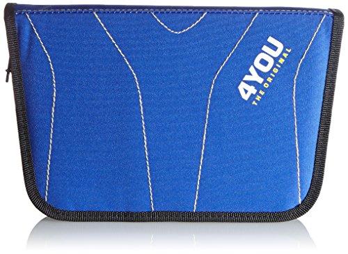 4YOU Zusatztasche Igrec Zipper Pencilcase Blau (Blue Yellow) 16660065100