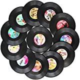 Funny Coasters for Drinks | Set of 12 Conversation Piece Sayings Vinyl Record Disk Music Drink Coaster |...