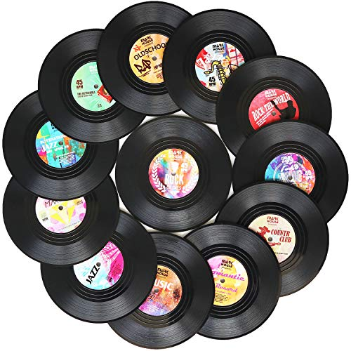 Funny Coasters for Drinks | Set of 12 Conversation Piece Sayings Vinyl...