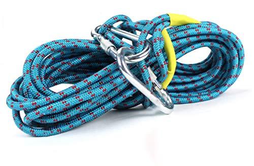Rope Acier Corde d'escalade en Plein Air Corde De Sécurité Corde d'escalade Lifeline Corde De Sauvetage Corde d'usure Corde Survie Équipement Fournitures,40m
