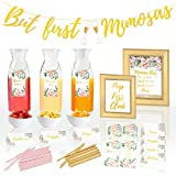 ⭐SHOW HOW DEPENDABLE YOU ARE - As the Maid of Honor, Mom, or close friend you've been tasked with an enormous responsibility! It's up to you to make the Bridal Shower or Baby Shower a HUGE HIT. Our high quality mimosa bar decoration kit comes with al...