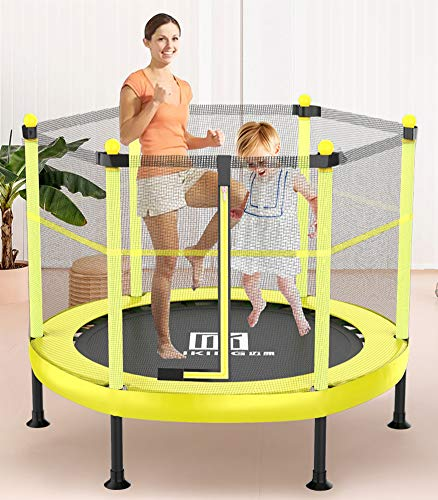 ZHIHEHE Kids Trampoline - Mini Rebounder Trampoline, Exercise Trampoline with Adjustable Handrail for Indoor/Outdoor/Garden/Yoga/Exercise/Cardio-Max Load 220lbs, 40INCH