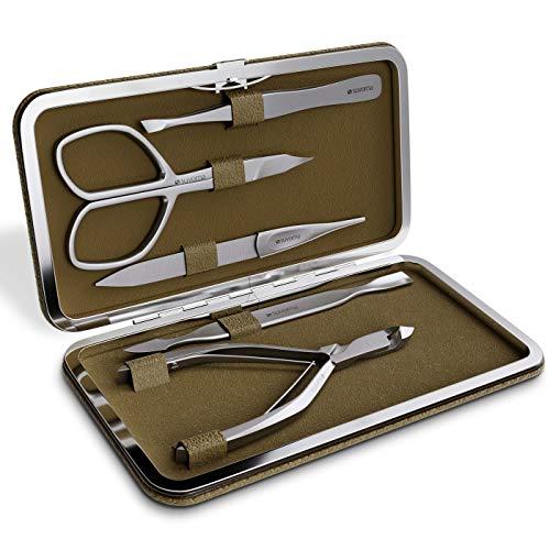 Suvorna Manipro, P50, kit di qualità da 5pezzi per manicure, in acciaio...
