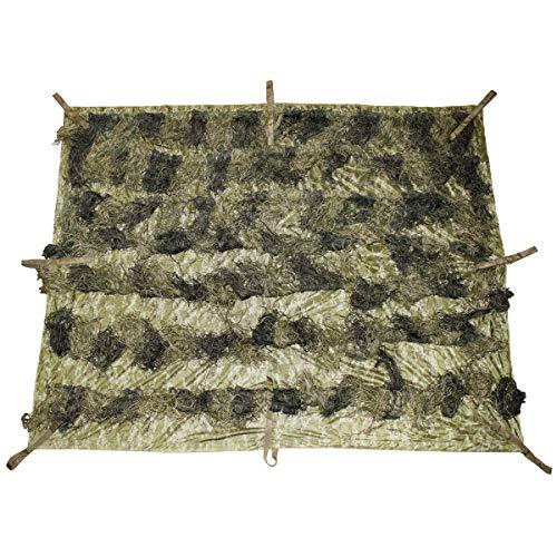 Diseño de camuflaje manta,'Ghillie', 3,5 x 1,5 m, woodland