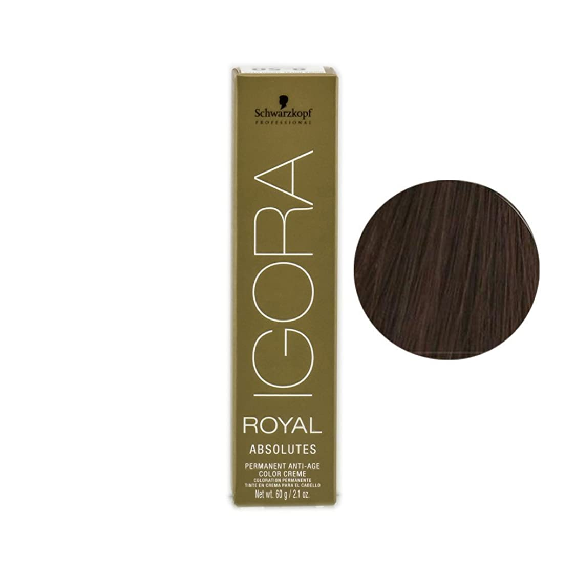 海岸醜いリーチSchwarzkopf Professional Igora Royal Absolutes Hair Color, 7-56, Medium Blonde Gold Chocolate, 2.1 Ounce