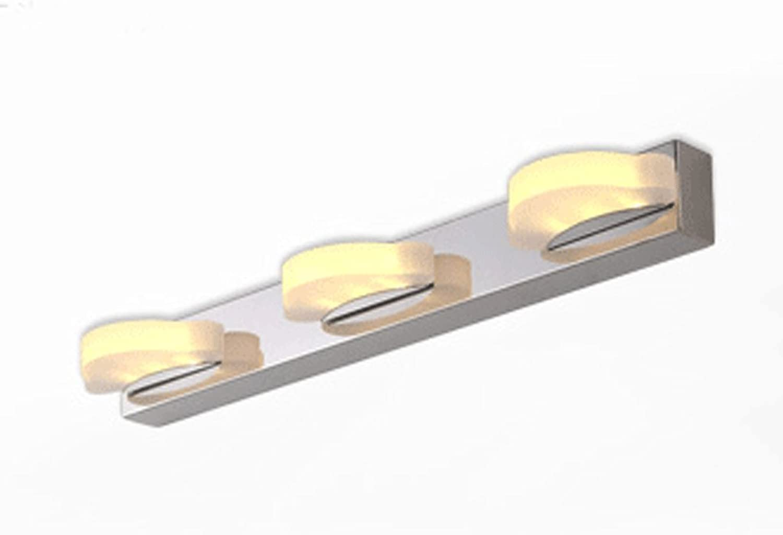 PRIDE S LED Spiegelleuchte minimalistisch modernen Edelstahl-Badezimmerspiegel Licht Badezimmer Wandleuchte Lampe Energie-Effizienzklasse A + ( farbe   Warmwei-45 cm )