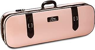 LANG CASES Violin Case 4/4 6.5 Lbs Exterior:Pink & Choco Brown Deco/Interior:Pink