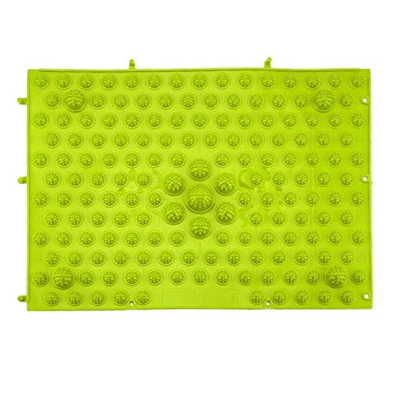シルエット断片温室指圧フットマットランニングマンゲーム同型フットリフレクソロジーウォーキングマッサージマット用痛み緩和ストレス緩和37x27.5cm - グリーン