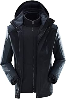 f0e50adfc33 Add Fat Men s Outdoor Autumn and Winter Two-in-one Windbreaker Detachable Thick  Waterproof