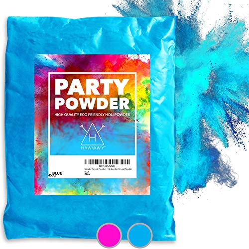 Hawwwy Colorful Powder Used for Baby Gender Reveal Powder Burnout, Colored Powder for Color Run, Tannerite Surprise Holi Games Motorcycle Exhaust Car Tires Truck Photography Boy Packets (Blue)