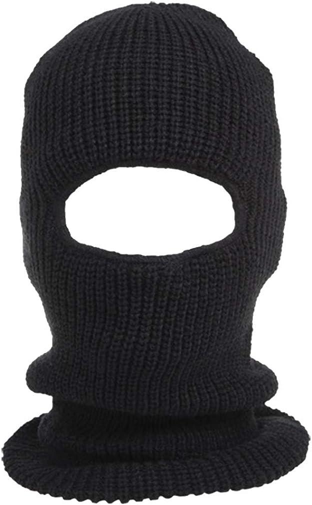 Peach Couture Unisex Thick Knit One Hole Ninja Balaclava Snowboarding Face Mask