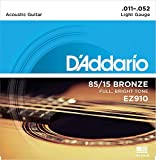 D'Addario Bronze Acoustic Guitar Strings_{.010-.050_Light Gauge}85/15 FULL BRIGHT TONE_Stainless Steel Material