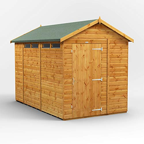 POWER | 10x6 Apex Security Wooden Garden Shed | Size 10 x 6 | Secure Sheds with super fast delivery