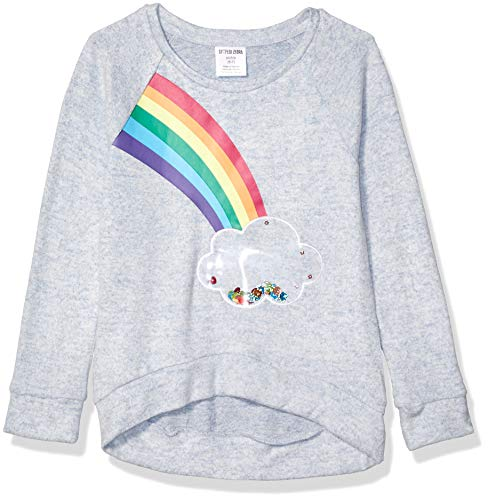 Spotted Zebra Long-Sleeve Cozy Raglan Tops fashion-t-shirts, regenbogenfarben, X-Large (12)