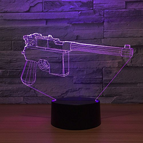 Nndxh Modelado 3D Luz Nocturna Lámpara Led Creativa Con Pilas Usb Lindo 7 Colores Luz 3D