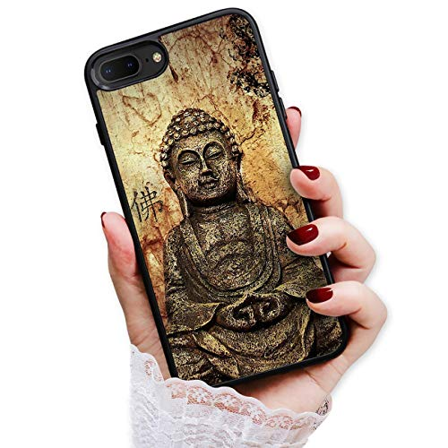 for iPhone 8 Plus, iPhone 7 Plus, Art Design Soft Back Case Phone Cover, HOT12125 Buddha