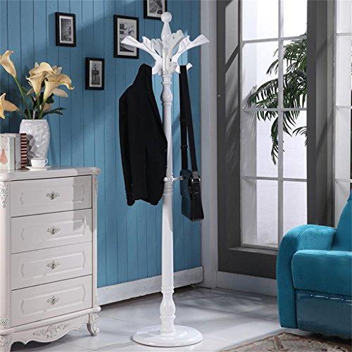 Porte-manteau de juillet Blanc Européen Bois massif Pansements Racks Mode créatif Chambre Hangers Cagoules Racks vêtements