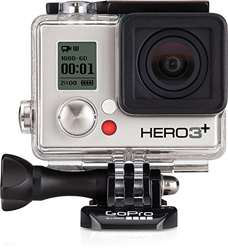 GoPro HERO 3+ Silver Edition - Videocámara deportiva de 10 Mp (vídeo Full HD, estabilizador, WiFi), (versión italiana)