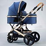 Cochecitos convertibles compactos para niños pequeños, cochecito plateado multifuncional portátil, buggies de bebé con cinturón de seguridad de 5 puntos y canasta de alta capacidad