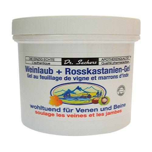 3 Dosen / Tiegel Weinlaub + Roßkastanien Gel