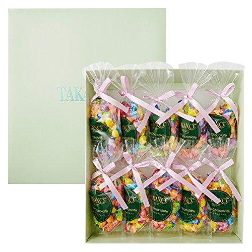 新宿高野 フルーツチョコレート10入EA (プレゼント袋付) プチギフト [ バレンタインデー / ホワイトデー / お返し / ギフトセット ] 7種類のフルーツ 10袋入り