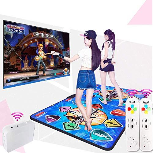 GH-YS Doppelte Tanzmatte, kabellose Spielmatte Schnurlose Faltbare Tanzmatte Tanzfläche, rutschfeste Tanzdecke, TV-Computer Somatosensorische Tanzmatten mit doppeltem Verwendungszweck, B.