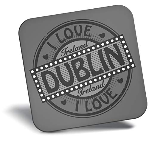 Destination Vinyl ltd Awesome - Imán para nevera con texto en inglés «I Love Dublín Irlanda Irlanda Sello de viaje #40079