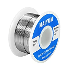 √ Tin Lead Solder Wire: High Quality Rosin Core Solder Wire √ Parameters: solder wire Tin 63%- Lead 37% (Sn63-Pb37) √ Flux content 1.8%,electrical soldering wire dia is 0.8mm (0.0315inch),gross weight 50gram (0.11lbs),good size for pocket √ Low Melti...
