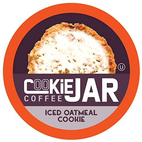 Cookie Jar Coffee Iced Oatmeal Flavored Coffee, Recyclable Pods, 2.0 Keurig K-Cup Compatible, 40 Count