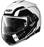 Nolan N100-5 Consistency Helmet Metallic White (White, X-Large)